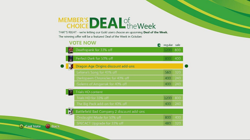Deal of the Week Vote