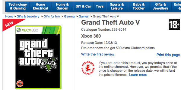 GTAV Tesco launch1